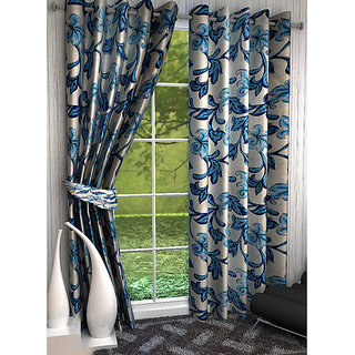 Home Luxurious 2 Piece New Premium Designer Curtains ( Size - Length 9Ft Width 4ft )
