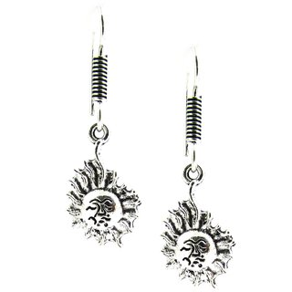 Factorywala Girls  Fashionable Sun Designed Oxidized Silver Earring