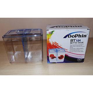 ** COLOURFUL AQUARIUM ** Original - High Quality Dophin Mini Betta Fish Tank BT-104 + 20g OPTIMUM Food