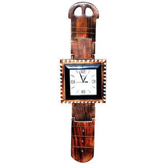 Jpcreation Patta Handicraft Wooden Wall Clock