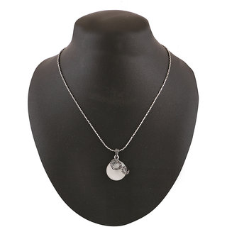 Jazz Jewellery Jewellery Grey Rhinestone Antique Silver Pendent Silver Necklace For Women and Girls