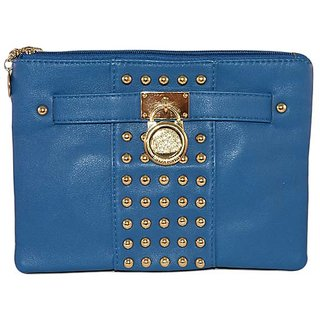Merastore Women Casual, Party Blue  Clutch