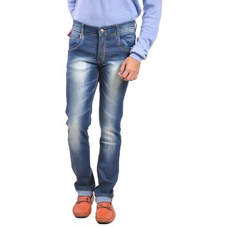 LOBSTAR Slim Fit Low rise Mens Blue Jeans