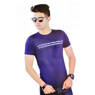 Stylish Word Printed T-shirt ( Round Neck )  size - XL
