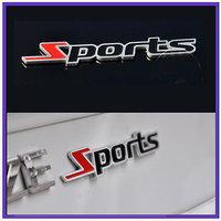 Metal Sports 3D Chrome Badge Logo Sticker For Bike And Car