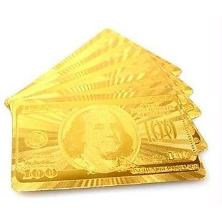 Gold Plated Playing Cards with Wooden Box