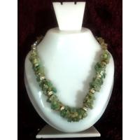Diwali Special Sale ! Green Aventurine Chip Stone Necklace Chakra Healing Crystal Gemstone Jewelry