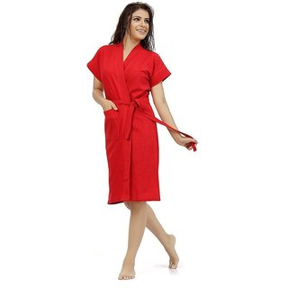 Be You Fashion Red Cotton Bathrobe
