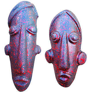 terracotta red modern mask