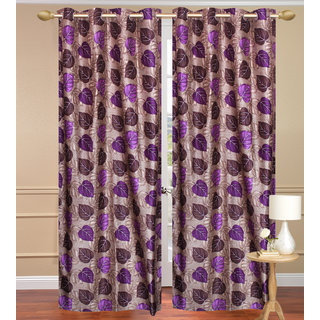 Blue Door set of 2 pcs (4x7 feet) - Eyelet Polyester Curtain-Purav Light