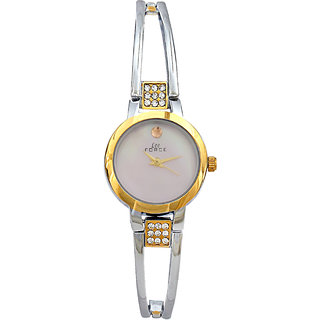 Lee Force Casual Silver Metal Strap Wrist Watch For Women
