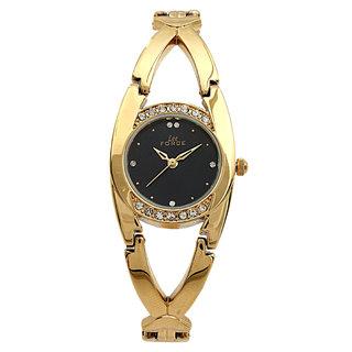 Lee Force Casual Golden Metal Strap Wrist Watch For Women