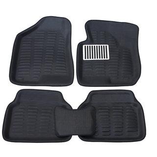 Auto Pearl - Premium Quality 3D Car Foot Mats - Chevrolet Beat - Black - Set of 5 Pcs
