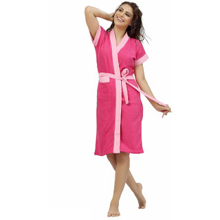 Be You Fashion Shaded Pink Cotton Bathrobe