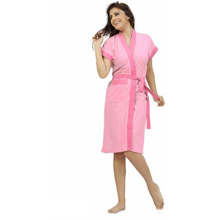 Be You Fashion Shaded Light Pink Cotton Bathrobe