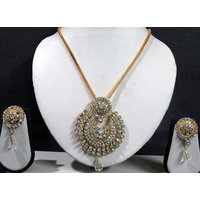 Golden White Sun Pendant Set