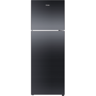 Haier 270 Ltrs Hrf-2904Pkg Double Door Refrigerator Black Glass Door