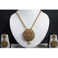 Golden Stone Temple Pendant Set GT