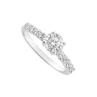 Alluring Diamond Engagement Ring With 14K White Gold Design 3