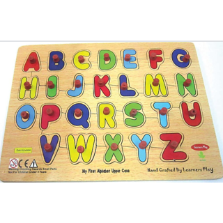 Learners Play English Alphabet Uppercase Puzzle