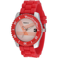 MARCO Analog Red Leather Watch For Men