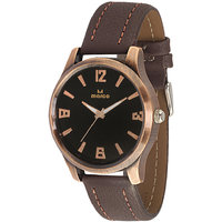 MARCO Analog Brown Leather Watch For Men