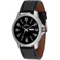 MARCO Analog Black Leather Watch For Men
