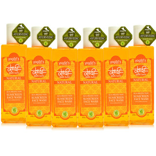 Khadi Vagad's  Sun-Protection Sunscreen Face Wash ( 100ml x 6 )