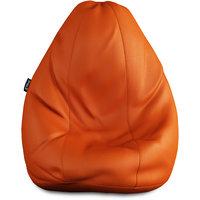 Story@Home Brown Faux Leather Bean Bag Chair - XXL -BB1412