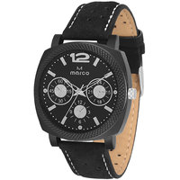 MARCO Analog Black Leather Watch For Men - 99248912