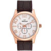 MARCO Analog Brown Leather Watch For Men - 99248663