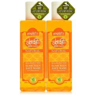 Khadi Vagad's  Sun-Protection Sunscreen Face Wash ( 200ml x 2 )