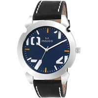 MARCO Analog Black Leather Watch For Men - 99249277
