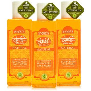 Khadi Vagad's  Sun-Protection Sunscreen Face Wash ( 200ml x 3 )