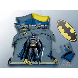 5D Batman Super Hero Characters BedSheet With 1 Pillow Cover