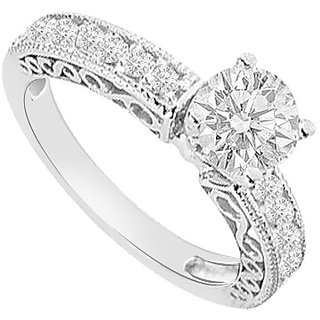 Elegant With 14K White Gold Diamond Engagement Ring Design 1