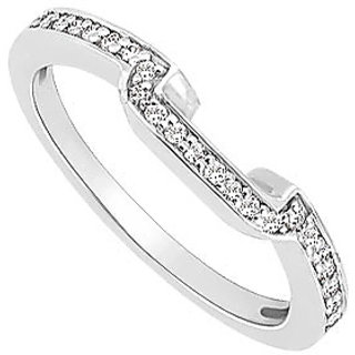 Excellent Diamond Wedding Band With 14K White Gold