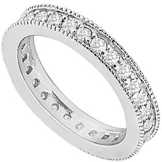 Divine Diamond Wedding Band With 14K White Gold Design 1