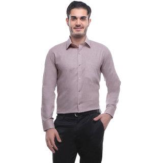 English Navy Brown Slim Fit Full sleeves Formal Shirt for Men