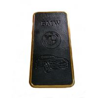 BMW Black-Golden Leather Finish Look Stylish Premium Quality Refillable Cigarette Lighter