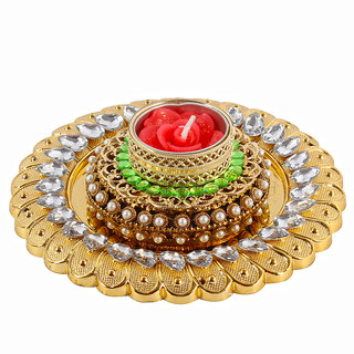 Royal Golden Acrylic Designer Diya