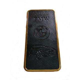 BMW Black-Golden Leather Finish Look Stylish Premium Quality Refillable Cigarette Lighter