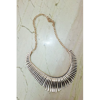 Gorgeous fringe necklace in a Cleopatra style