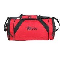 GIBBS All Season Polyester Duffel Gym Bag (Red)