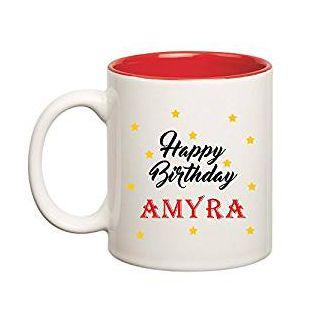 Huppme Happy Birthday Amyra Inner Red Mug