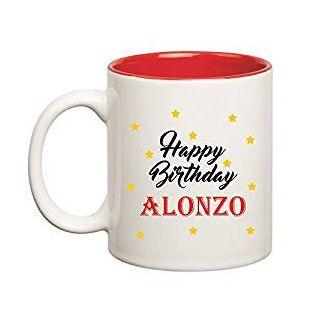 Huppme Happy Birthday Alonzo Inner Red Mug