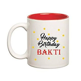 Huppme Happy Birthday Bakti Inner Red Mug