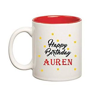 Huppme Happy Birthday Auren Inner Red Mug