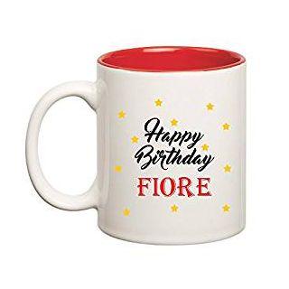 Huppme Happy Birthday Fiore Inner Red Mug