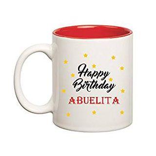 Huppme Happy Birthday Abuelita Inner Red Mug